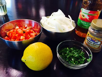 Everything to make a Goan Shrimp Curry