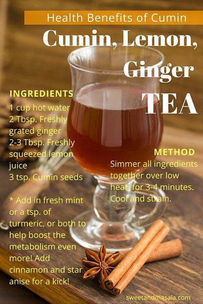 Cumin, Lemon, Ginger, Tea