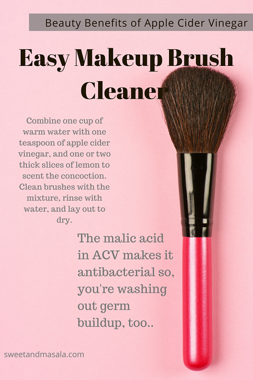 how to clean makeup brushes with vinegar. use apple cider vinegar as a makeup brush cleaner j bought me new brushes for and how to clean with s