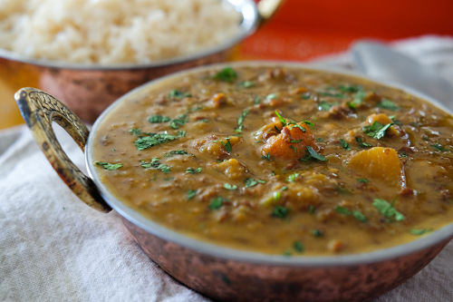 Vegan Red Lentil, Butternut Squash and Coconut Curry