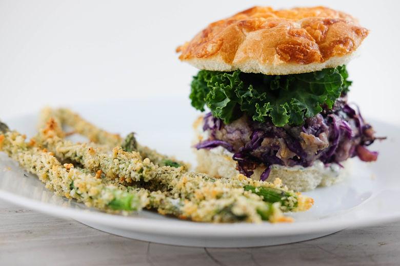 Bomb Potato & Red Cabbage Vegan Burgers