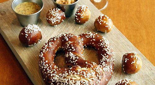 Pretzel with Sculpin Beer Cheese