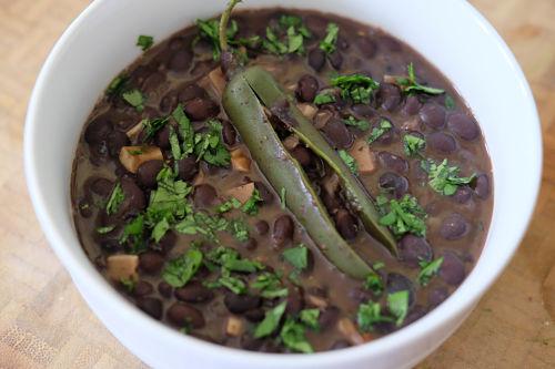 Homemade restaurant style black beans