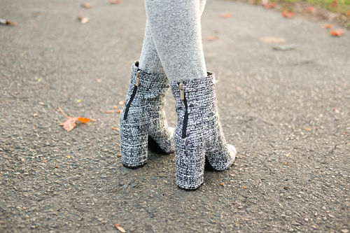 Jessica Simpson Black and White Booties