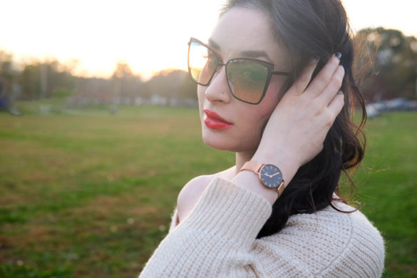 Daniel Wellington Classic Petite and Diff Eyewear Becky