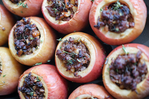 Savory Baked Apples for the Holidays