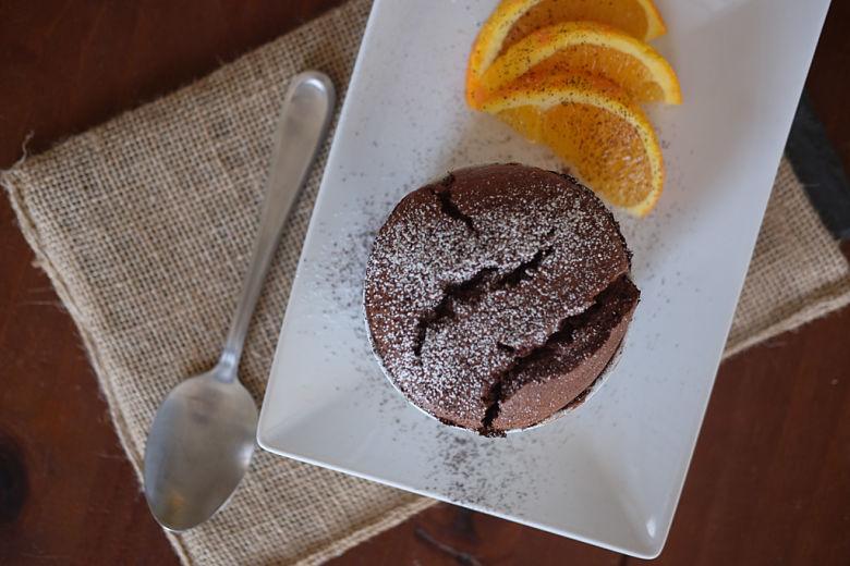 Dark Chocolate, Chili and Orange Soufflé