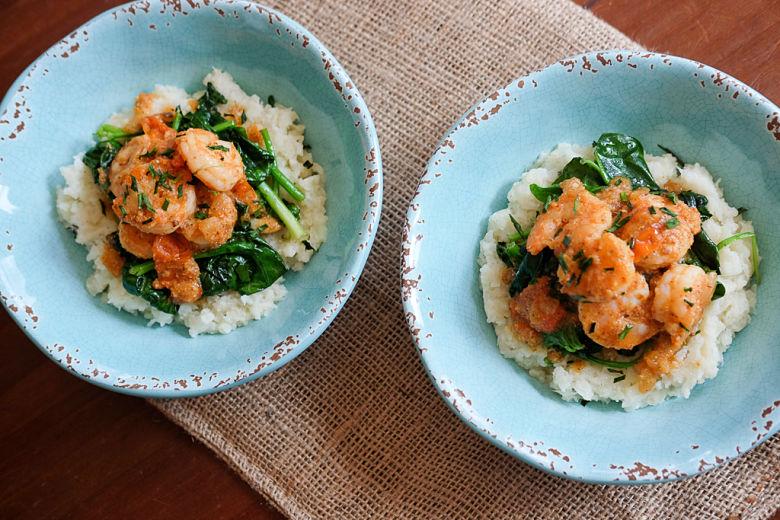 Goan Shrimp & Cauliflower Grits