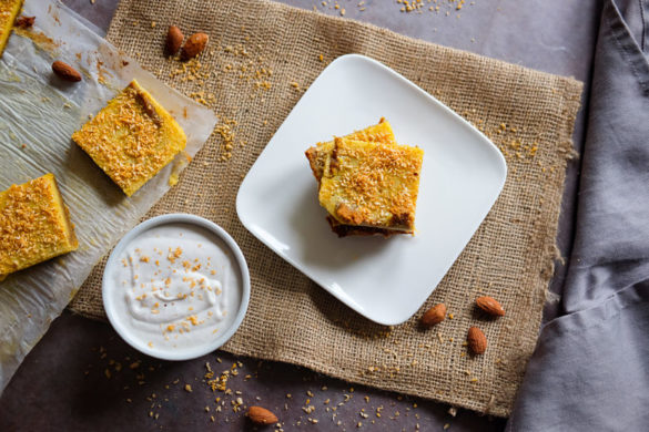 Coconut Lemon Bars with Cayenne and Vegan Whipped Cream