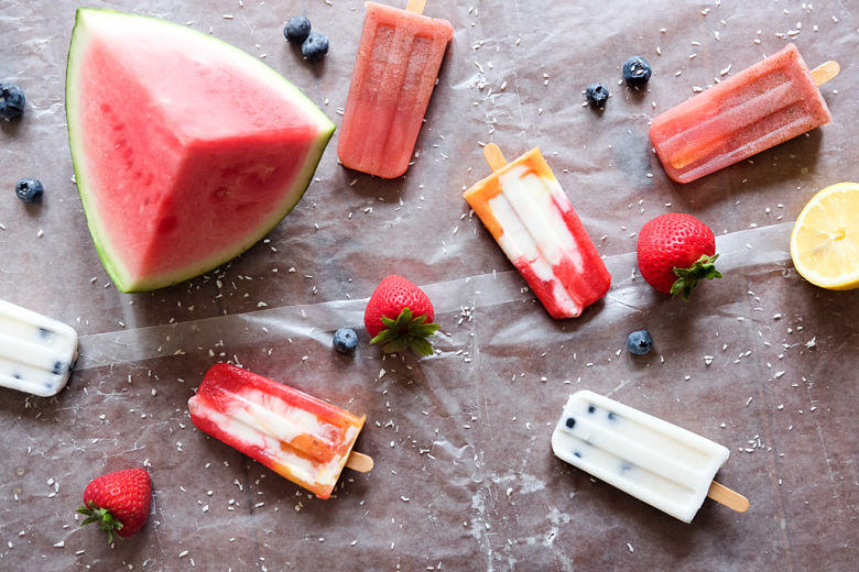 Homemade Fruit Popsicle's