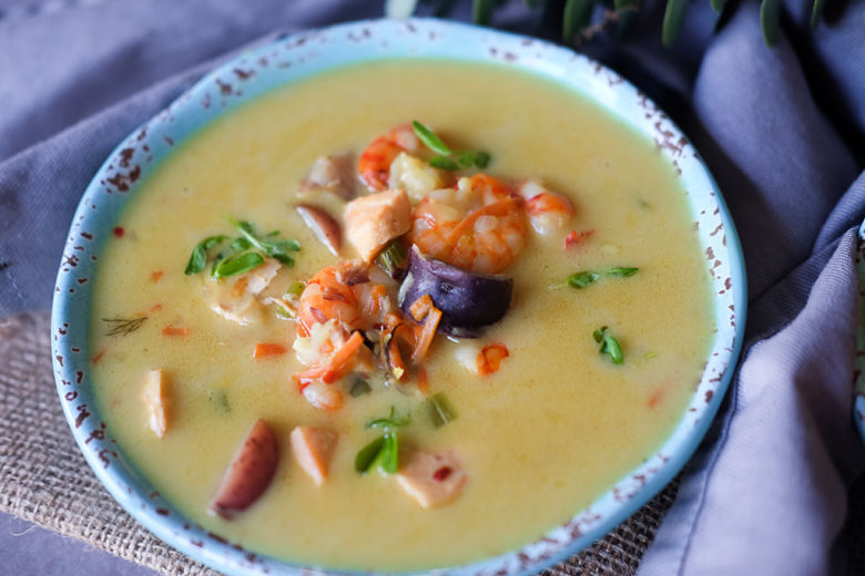 Whole 30 Approved Seafood Chowder