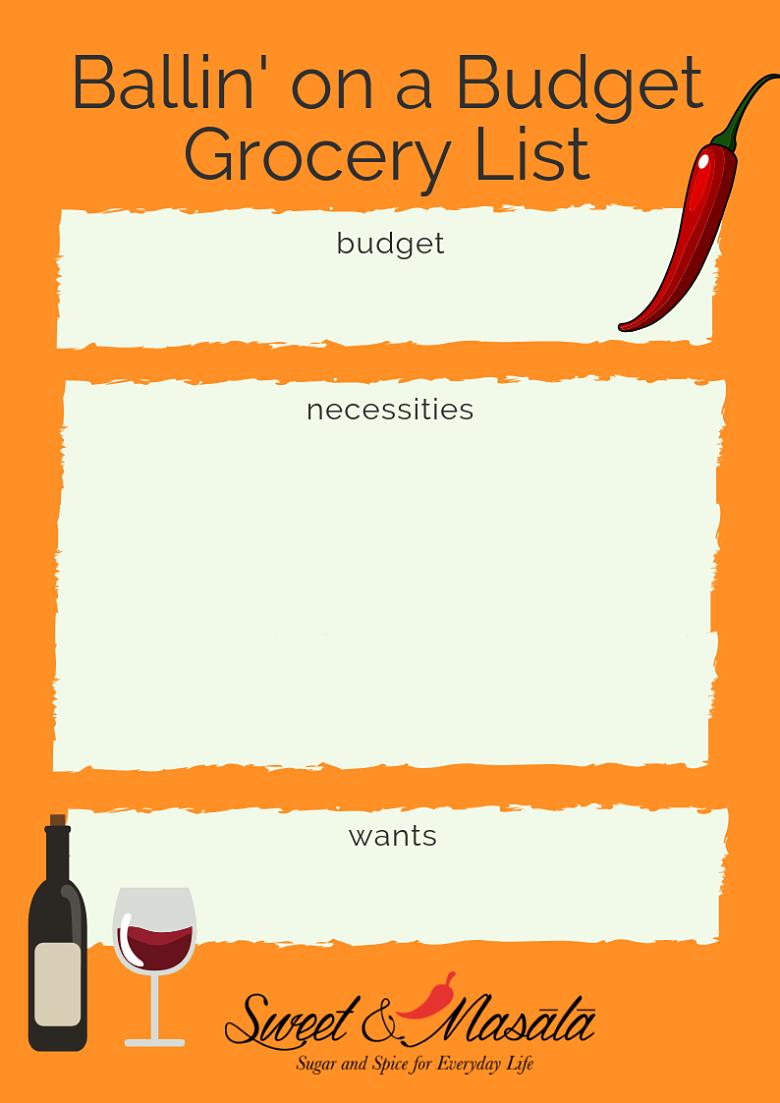 Ballin' on a Budget Grocery List