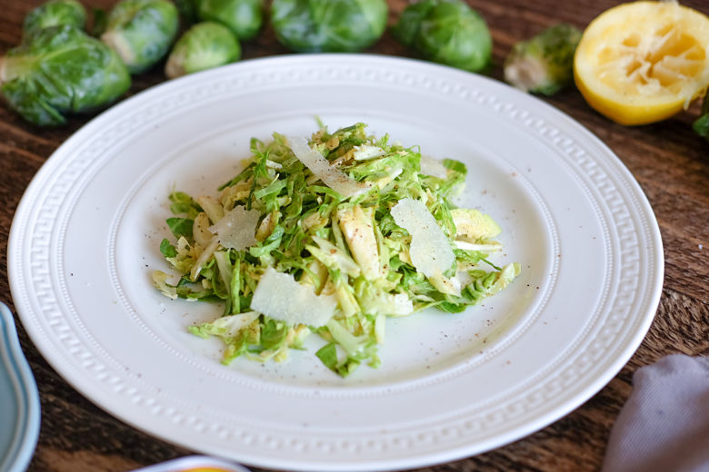Brussels Sprouts Caesar Salad with a Homemade Anchovy Dressing
