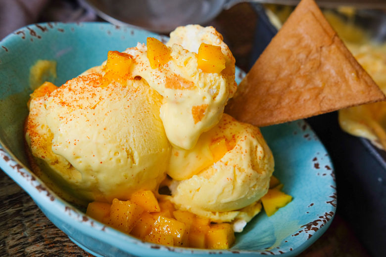 Keri nu Ras (Mango) Chili No Churn Ice Cream