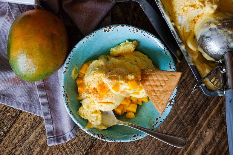 Keri nu Ras (Mango) Chili No Churn Ice Cream