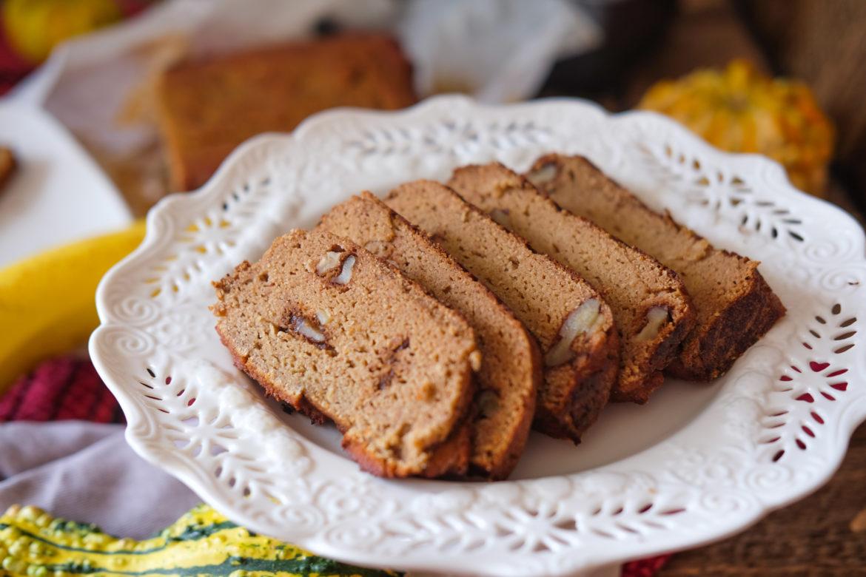 grain free, refined sugar free, gluten free, banana bread