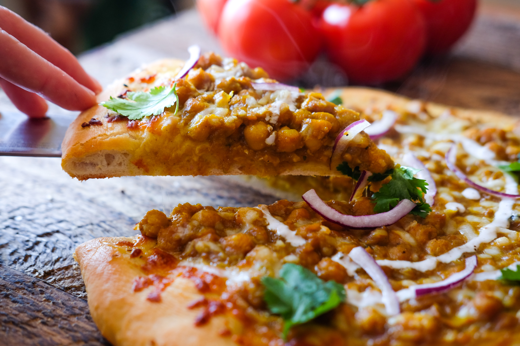Chana Masala Pizza
