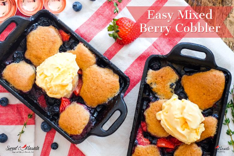 Easy Mixed Berry Cobbler